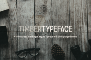 Print on Demand: Timber Display Font By v.derkach.work