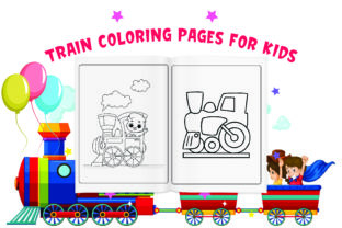 Train Coloring Pages for Kids Graphic Coloring Pages & Books Kids By Moonz Coloring