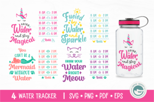 Water Tracker Graphic Crafts By Cuputo Creative