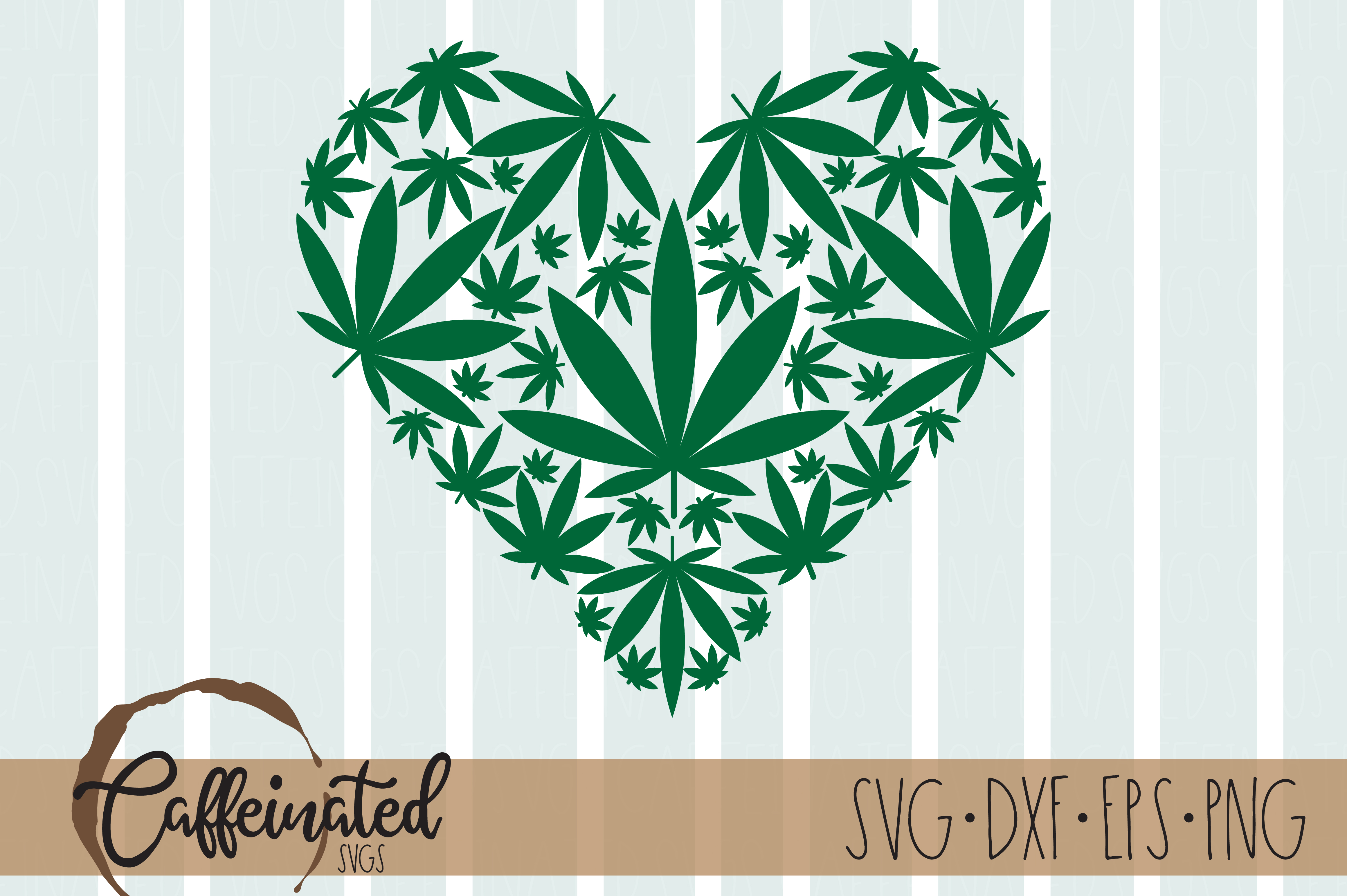 Weed Heart SVG File