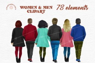 Women and Men Friends Clipart Graphic Illustrations By clipartsNprintables