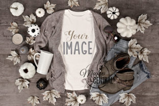 Women's Fall Flatlay Mockup T-Shirt Graphic Product Mockups By Mockup Central