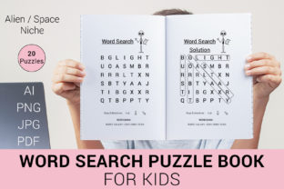 Print on Demand: Word Search Puzzle Book for Kids - KDP Graphic KDP Interiors By PEN_TOOLS