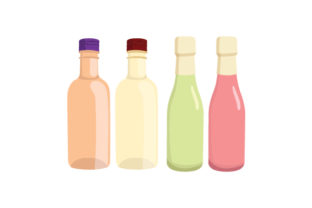 Mini Wine Bottles Mockup Food & Drinks Craft Cut File By Creative Fabrica Crafts
