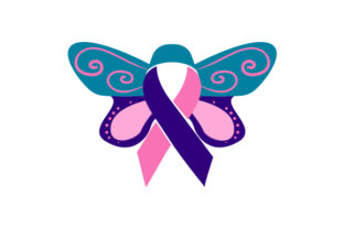 Thyroid Cancer Awareness Butterfly Cancer Awareness Craft Cut File By Creative Fabrica Crafts