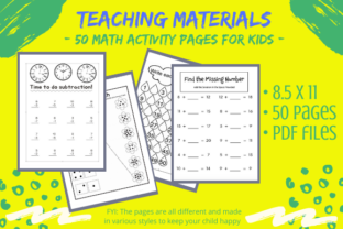 Print on Demand: 50 Math Activity Pages Home School 2nd Graphic 2nd grade By Tomboy Designs