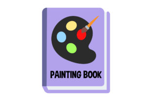 Book Icon Painting Palette Design Vector Graphic Icons By aerorbstudio