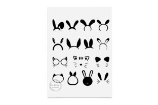 Print on Demand: Bunny Ears, Rabbit Ears Clipart Gráfico Crafts Por CarryBeautySVG