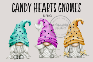 Candy Hearts Gnome Clipart PNG Graphic Illustrations By Celebrately Graphics