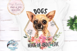 Chihuahua Dog Sublimation Graphic Crafts By WispyWillowDesigns