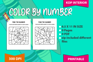 Color by Number Puzzle Graphic Teaching Materials By magicCreative