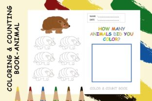 Coloring & Counting Book Page - Armadilo Graphic 4th grade By 57creative