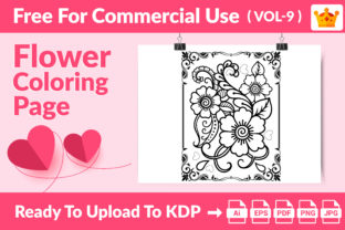 Coloring Page - Flower Coloring Page V 9 Graphic Coloring Pages & Books Kids By Md Abu Saeid