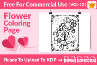 Coloring Page - Flower Coloring Page V12 Graphic Coloring Pages & Books Kids By Md Abu Saeid