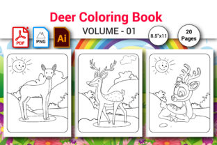 Deer Coloring Page for Kids Graphic Coloring Pages & Books Kids By MRcolor Graph