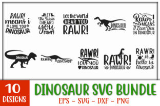 Print on Demand: Dinosaur Quotes Bundle Graphic Print Templates By GraphicsBooth