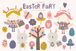 Print on Demand: Easter Fairy Clipart Set Graphic Illustrations By poppymoondesign