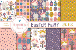 Print on Demand: Easter Fairy Paper Set Graphic Patterns By poppymoondesign