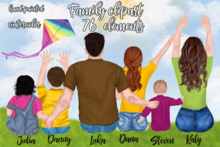 Print on Demand: Family Clipart Parents and Kids Graphic Illustrations By LeCoqDesign