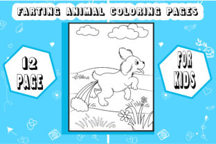Farting Animal Coloring Pages for Kids Graphic Coloring Pages & Books Kids By sumonakando97