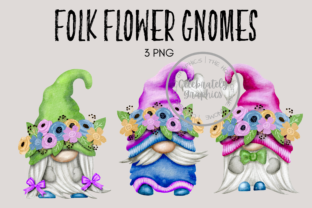 Folk Flower Gnome Clipart PNG Graphic Illustrations By Celebrately Graphics