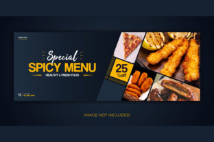 Print on Demand: Food Restaurant Facebook Cover Banner Graphic Web Templates By grgroup03