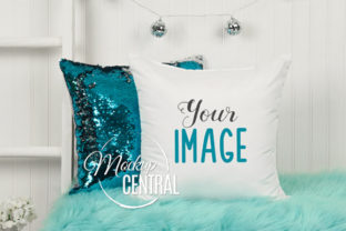 Girl's Pretty Bedroom Mockup Pillow Graphic Product Mockups By Mockup Central