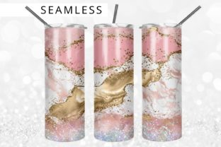 Glitter Pink Agate  20oz Tumbler Design Graphic Print Templates By 99TumblerDesigns