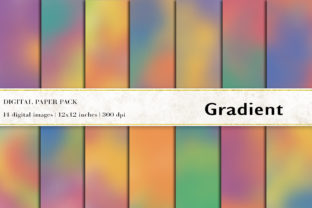 Gradient Digital Papers Gráfico Fondos Por BonaDesigns