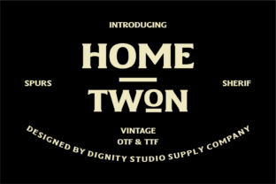 Print on Demand: Home Twon Serif Font By dignity.std