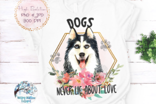 Husky Dog Sublimation Graphic Crafts By WispyWillowDesigns