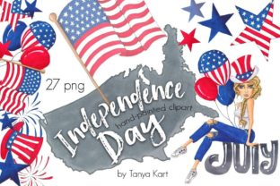 Independence Day Clipart Graphic Illustrations By Tanya Kart