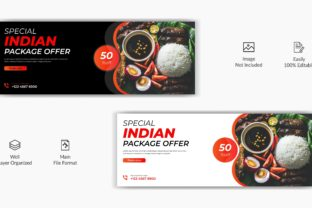 Indian Food Facebook Cover Banner Graphic Web Templates By grgroup03