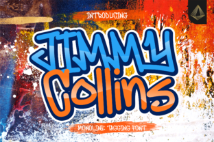Print on Demand: Jimmy Collins Display Font By allouse.studio