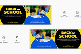 Kids Back to School Facebook Cover Graphic Web Templates By grgroup03