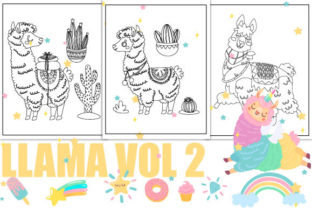 Print on Demand: Llama Coloring Pages - Vol 2 Graphic Coloring Pages & Books Kids By Trend Color