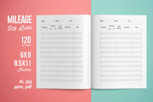 Mileage Log Book | KDP Interior Graphic KDP Interiors By iCreativee