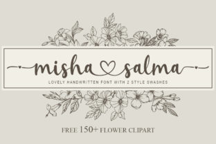 Print on Demand: Misha Salma Script & Handwritten Font By Graphix Line Studio
