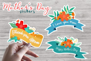 Print on Demand: Mothers Day - Printable Stickers Graphic Illustrations By nastiatrel