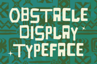Print on Demand: Obstacle Display Font By Jetsmax Studio