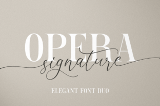 Print on Demand: Opera Signature Script & Handwritten Font By Pasha Larin