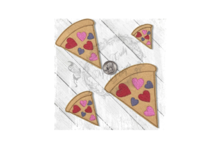 Pizza Love Food & Dining Embroidery Design By Yours Truly Designs