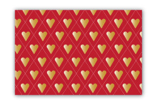 Seamless Hearts Pattern Gold & Red Graphic Patterns By Sonali Sathi