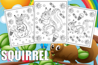Print on Demand: Squirrel Coloring Pages for Kids Graphic Coloring Pages & Books Kids By Trend Color