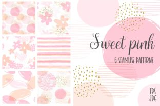 Sweet Pink 6 Seamless Patterns Graphic Patterns By Nadia Grapes