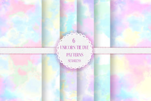Unicorn Pastel Tie Dye Seamless Patterns Graphic Patterns By i love BlueBelle