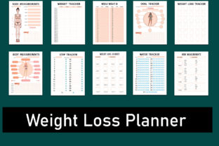 Weight Loss Planner Bundle Graphic Print Templates By Premiere Planners