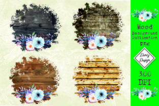 Print on Demand: Wood Flower Background Sublimation Graphic Backgrounds By DenizDesign
