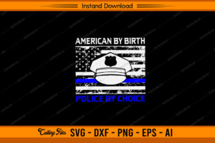 American by Birth Police by Choice Graphic Print Templates By sketchbundle
