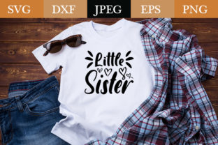 Print on Demand: Little Sister Graphic Print Templates By Design_store